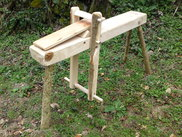 Adjustable drawhorse for efficient woodworking