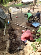 Groundwork for the structure - hand built foundations